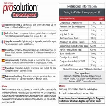 prosolution plus ingredients